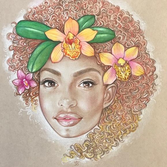 """""""Yara"""" Original Colored Pencil Drawing"""